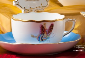 Butterfly and Bamboo-PABA Tea Cup and Saucer - Herend Porcelain