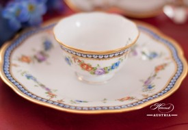 Pearls-GPN Coffee Cup and Dessert Plate - Herend Porcelain