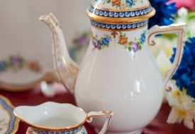 Pearls-GPN Coffee Pot and Creamer - Herend Porcelain