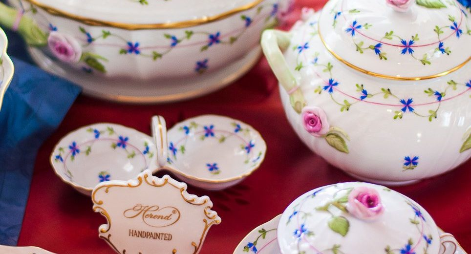 Cornflower Garland-PBG Dinner Set - Herend Porcelain