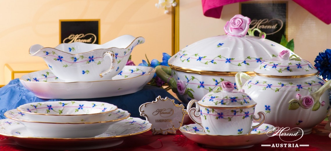 Cornflower Garland-PBG Dinner Set - Herend Porcelain