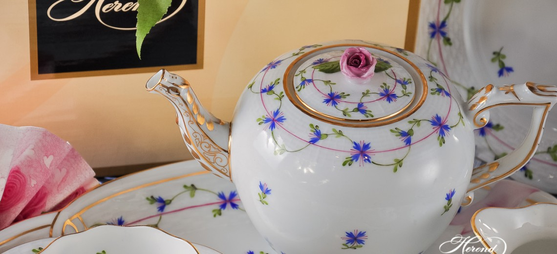 Cornflower Garland-PBG Tea Set - Herend Porcelain