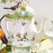 Couple of Birds RO-ETV Coffee Set Herend porcelain