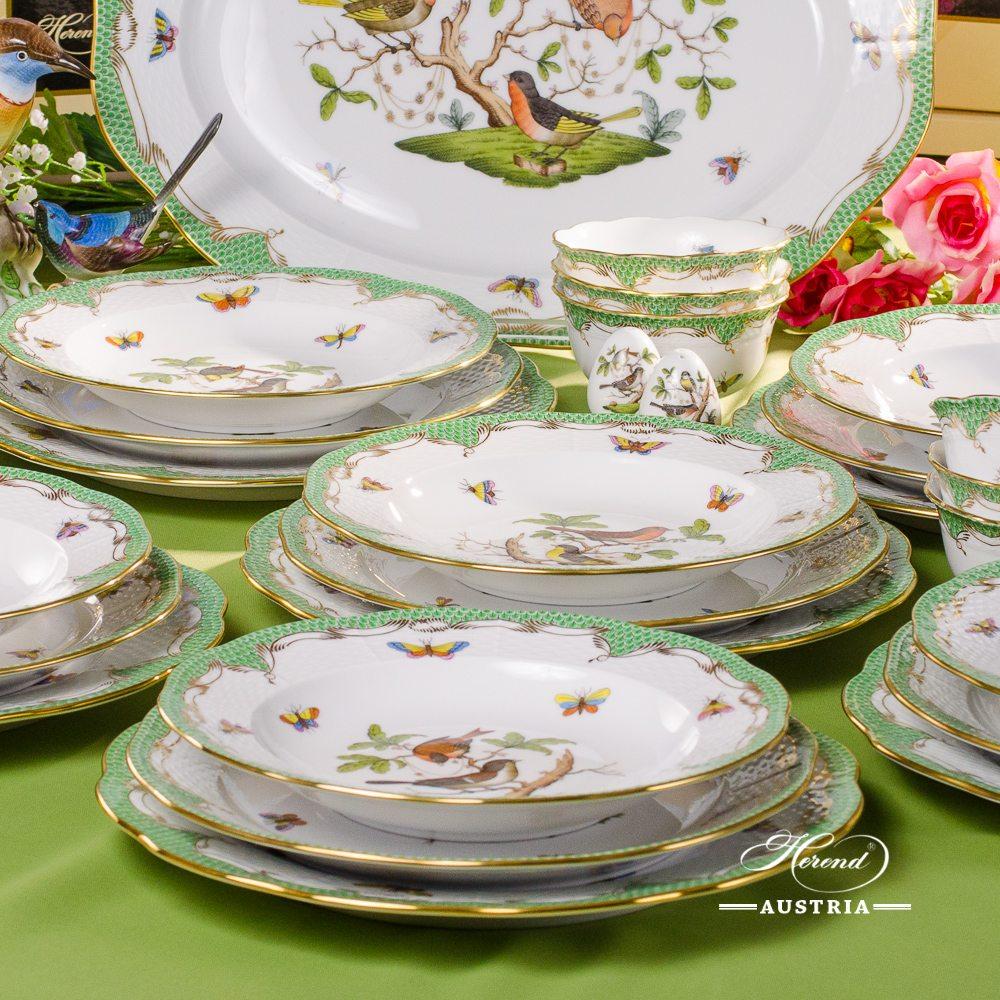Rothschild Birds RO-ETV Dinner-Set for 6 Persons - Herend Porcelain