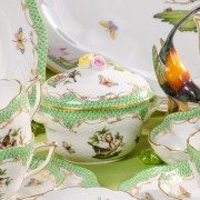 Couple of Birds RO-ETV Tea Set Herend porcelain