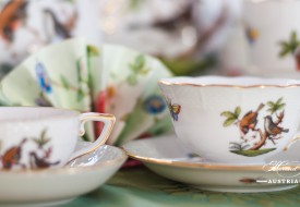 Couple of Birds-Rothschild Mocha Cup and Saucer - Herend Porcelain