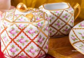 Sevres Roses-SPROG Sugar Basin - Herend Porcelain