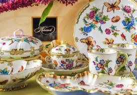 VICTORIA Soup Cup and Candy Jar - Herend Porcelain