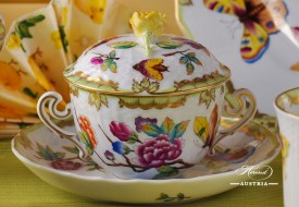 VICTORIA Soup Cup with Lid - Herend Porcelain