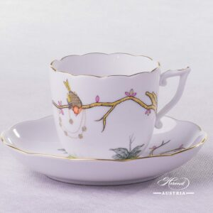 Dream Garden Coffee Cup and Saucer 20706-0-00 REJA Herend porcelain