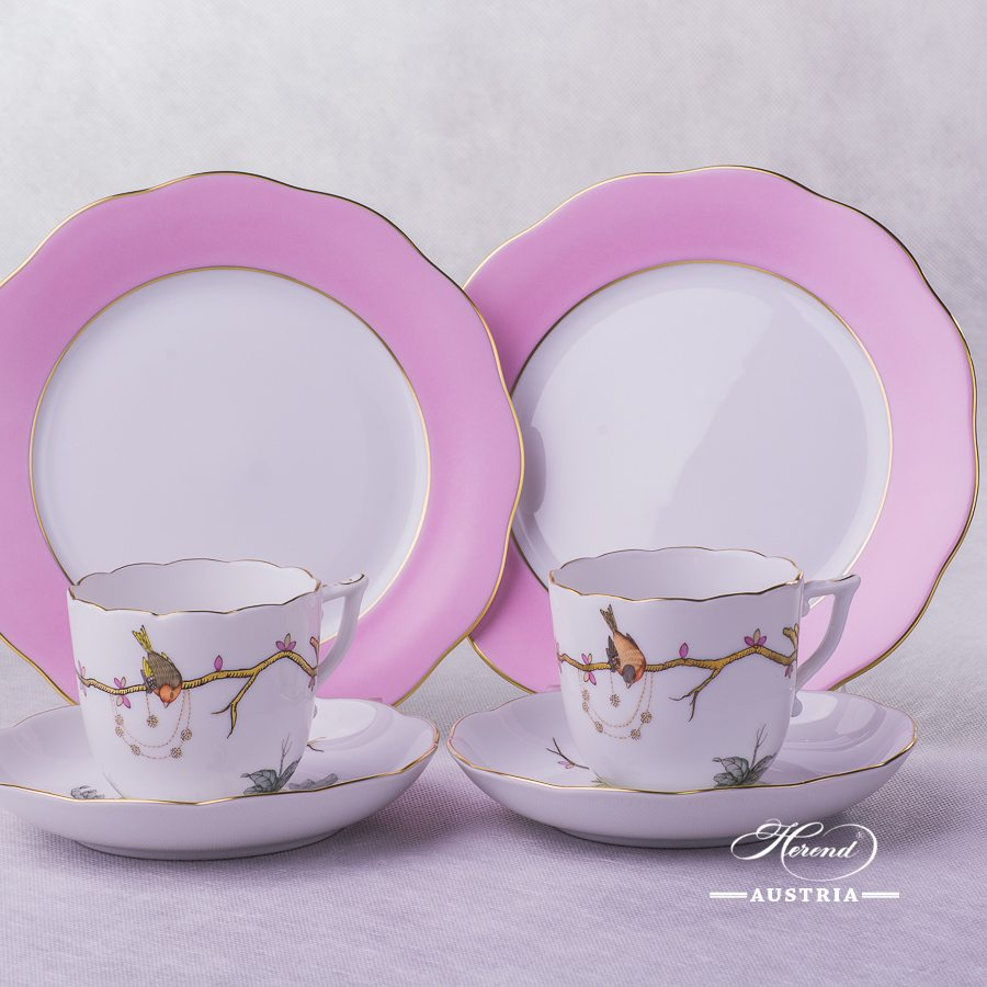 Dream Garden-REJA Coffee Cup with Dessert Plate for 2 Persons - Herend Porcelain