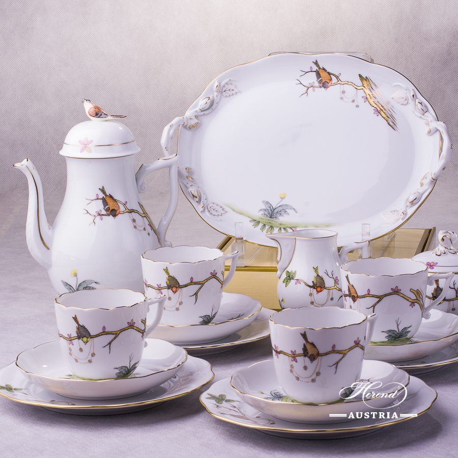 Dream Garden REJA Coffee Set for 4 Persons Herend porcelain