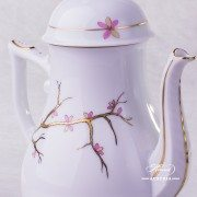 Dream Garden Coffee Pot with Bird knob 20613-0-05 REJA Herend porcelain