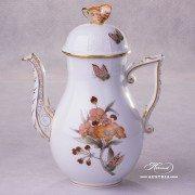 Victoria Grande Coffee Pot 613-0-17 VICTMC-Orange Herend porcelain