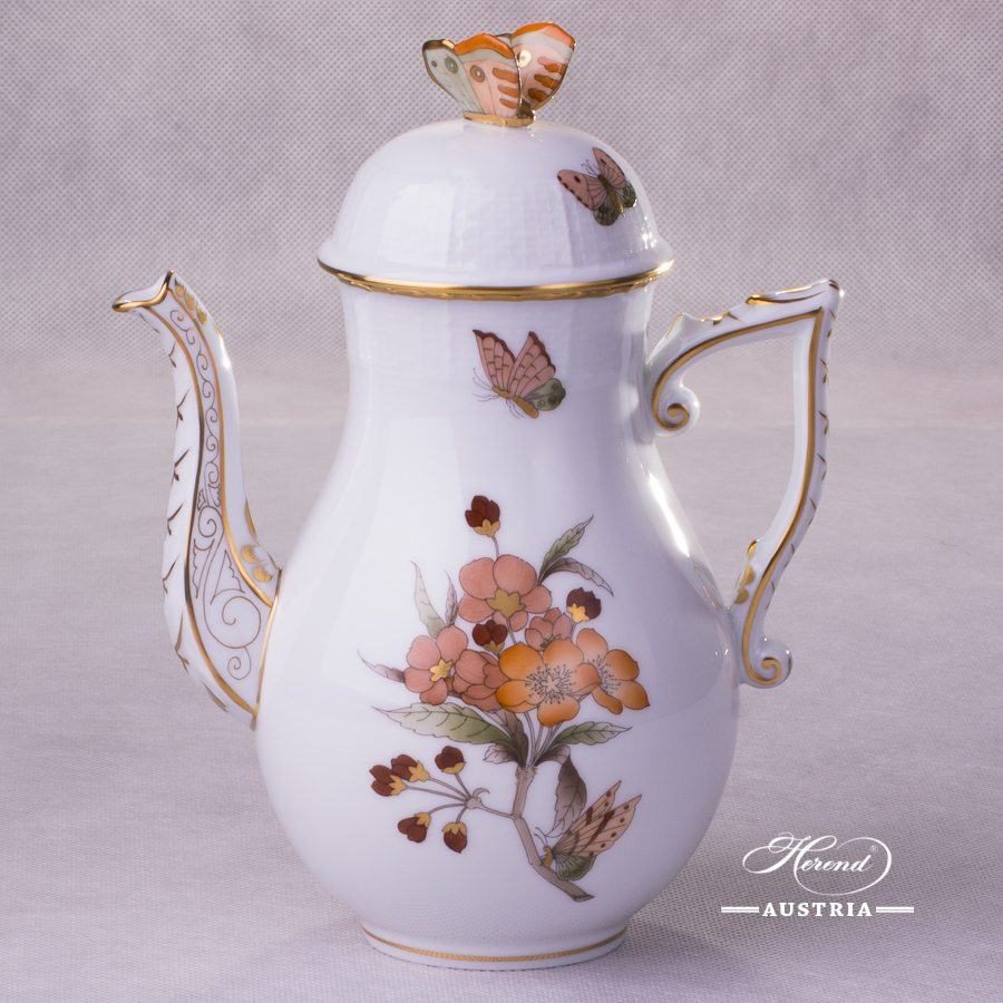 Victoria Grande Coffee Pot 613-0-17 VICTMC-Orange Herend porcelain