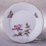 Victoria Grande Dessert Plate 517-0-00 VICTMC-Pink Herend porcelain