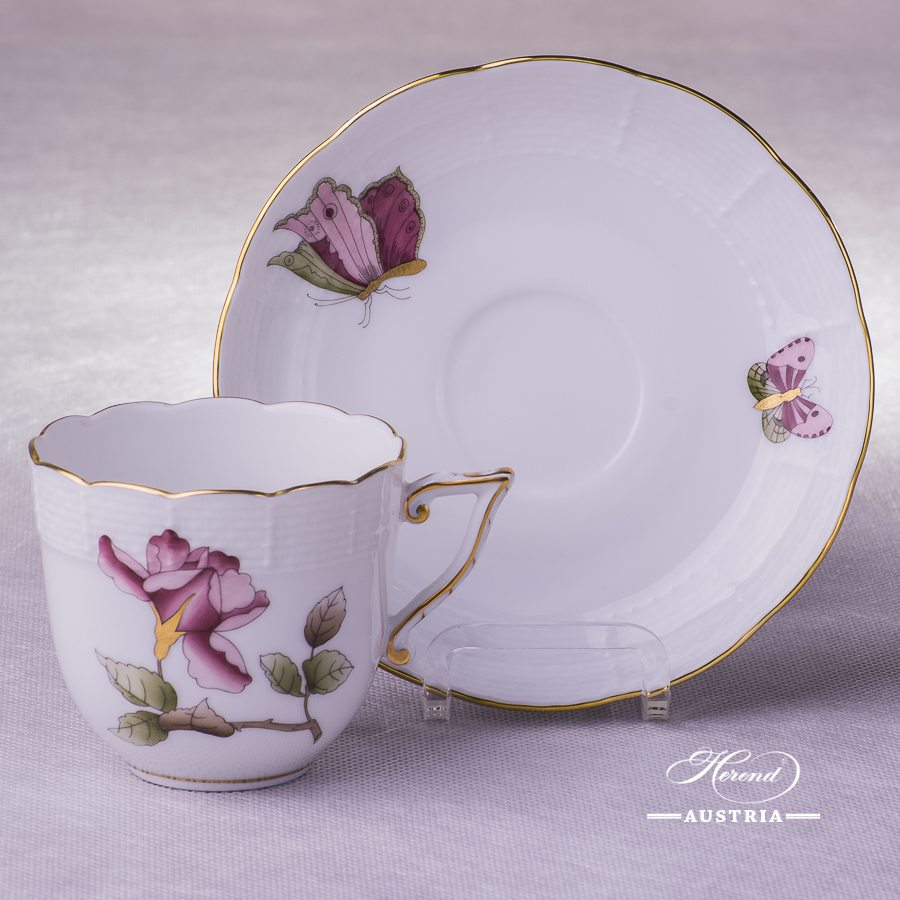 Victoria Grande Coffee Cup and Saucer - 706-0-00 VICTMC10 - Herend Porcelain
