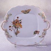 Victoria Grande Cake Plate 430-0-00 VICTMC-Orange Herend porcelain