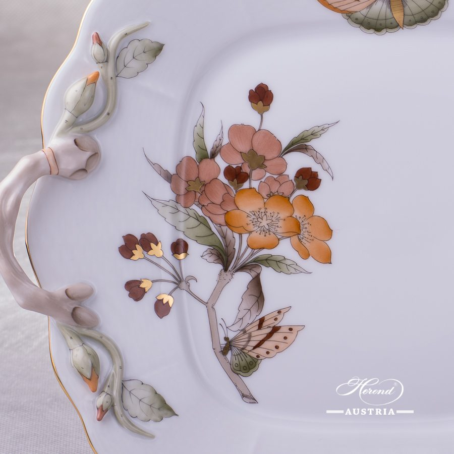 Victoria Grande Cake Plate - 430-0-00 VICTMC11 - Herend Porcelain