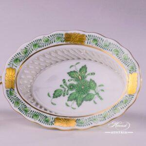 Apponyi-Green Basket 7380-0-00 AV - Herend porcelain