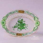 Apponyi Green Basket 7381-0-00 AV Herend porcelain