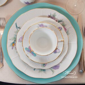 Royal Garden Turquoise - Dinner Set for 6 Persons