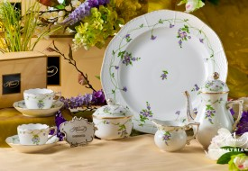 Coffee / Espresso Set for 2 Persons - Herend Imola IA pattern. Herend fine china hand painted. Tableware. Coffee Cup 711-0-00 IA - Imola