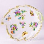 Leaf Dish 200-0-00 VBO Queen Victoria design. Herend fine chinahand painted