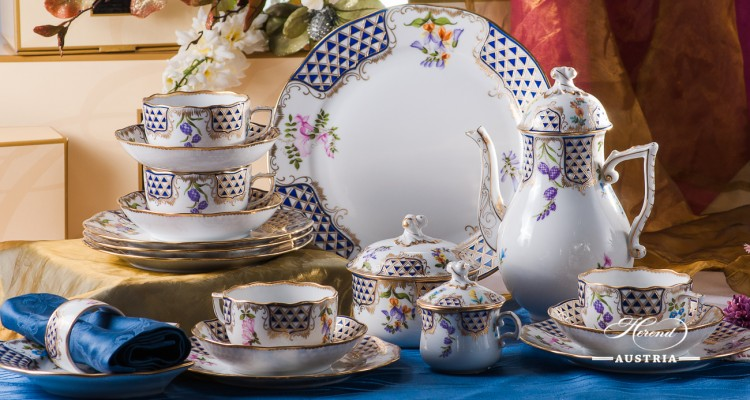 Mosaic and Flowers-MTFC Coffee Set - Herend Royal Porcelain