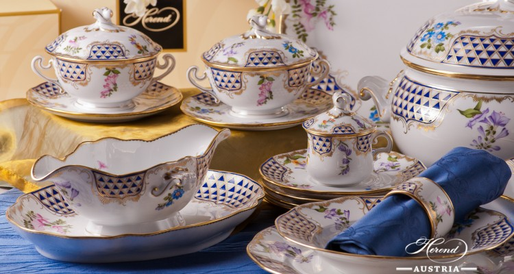 Mosaic and Flowers-MTFC Dinner Set - Herend Royal Porcelain