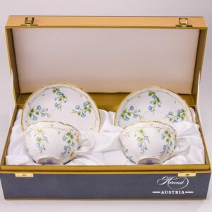 Morning Glory-Nyon 4247-0-00 NY Tea Cup and Saucer 2 pieces in Gift Box Herend porcelain