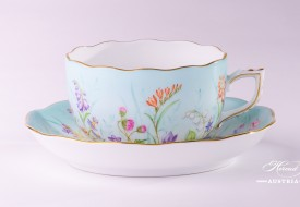 Tea Cup and Saucer 20724-0-00 QS Four Seasons pattern. Herend porcelain