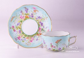 Four Seasons-QS Tea Cup and Saucer - Herend Porcelain