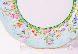 Dessert Plate 20517-0-00 QS Four Seasons pattern. Herend fine china. Hand painted tableware