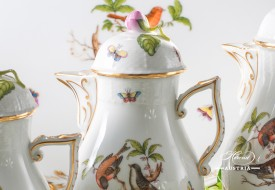 Couple of Birds-Rothschild Coffee Set - Herend Porcelain