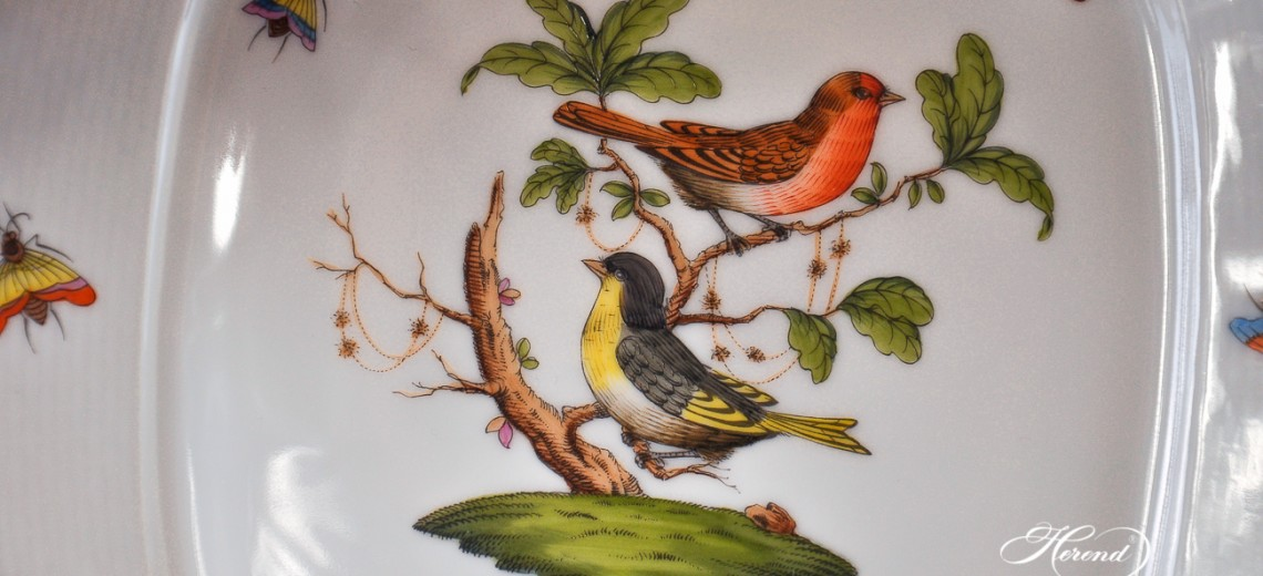 Couple of Birds-RO Dinner Set - Herend Porcelain