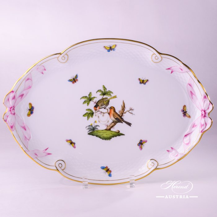 Rothschild Birds-RO Ribbon Tray - 400-0-00 RO - Herend Porcelain