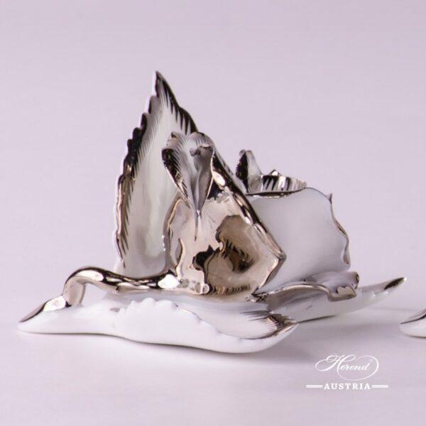Herend Porcelain Rose on Leaf 8983-0-00-CD-PT-x1