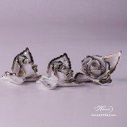 Herend porcelain Rose on Leaf 8983-0-00-CD-PT-5