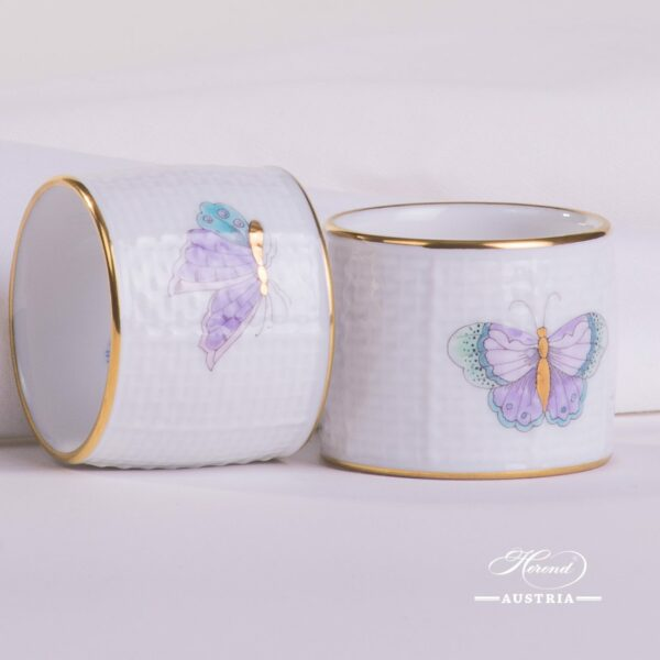 Napkin Ring 272-0-00 EVICTP2 Royal Garden Turquoise Butterfly pattern. Herend fine china hand painted. Tableware