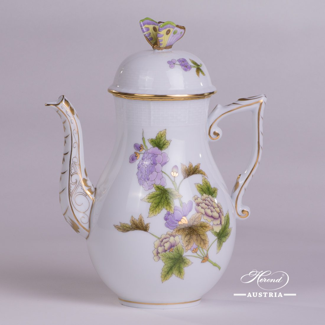 Royal Garden Coffee Pot - 613-0-17 EVICTF1 - Herend Porcelain
