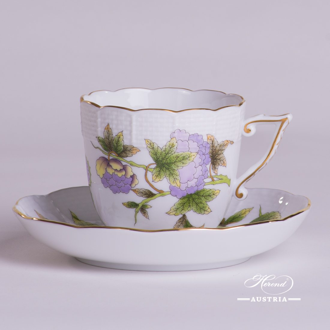 Royal Garden Coffee Cup and Saucer - 706-0-00 EVICTF1 - Herend Porcelain