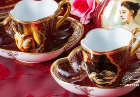 Beautiful Ladies Coffee Set - Herend Porcelain