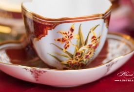 Orchid Tea Cup and Saucer - Herend Porcelain