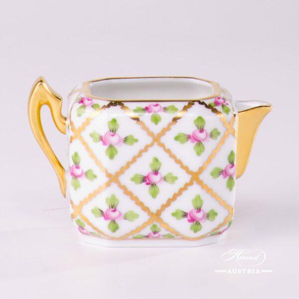 Creamer/Milk Jug 4476-0-00 SPROG Sevres Roses design. Herend porcelain. Hand painted tableware. Unique Empire porcelain form