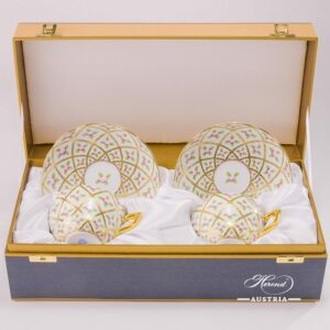 Sevres-Roses-SPROG-Coffee-Set-for-two-Persons-Herend-Porcelain-in-Gift-Box-9