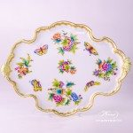 Tray Rococo 402-0-00 VBO Queen Victoria design. Herend fine chinahand painted. Tableware