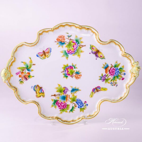 Victoria 402-0-00 VBO Tray Rococo Herend porcelain