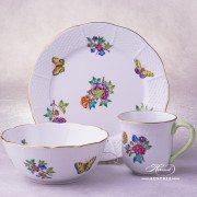 Victoria-A Breakfast Set - 3 pieces Herend porcelain