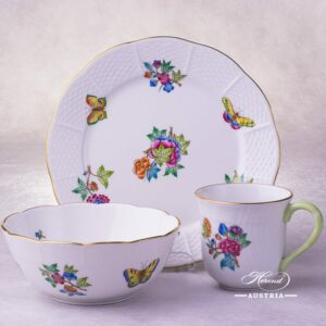 Victoria-A Breakfast Set - 3 pieces Herend porcelain